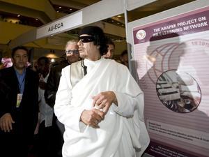 Hyllad i FN. För två månader sedan publicerades en rapport om Libyen av FN:s råd för mänskliga rättigheter. I rapporten kan vi bland annat läsa att Nordkorea hyllar framstegen i Gaddafis Libyen. Arkivbild: Jon Black/Scanpix-AP