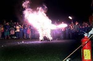 Foto: NICK BLACKMONBomhus Burning boy. Stuntmannen Patrik Fälldin kallar sitt trick för