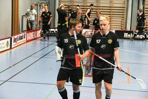 Daniel Pettersson, 15, och Fredrik Nilsson, 87, i Gluggens IF fick se sig besegrade av Broberg med 7–9.