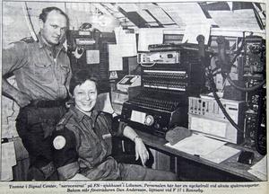 Signal Center där Yvonne Ekström jobbade var nervcentrat på FN-sjukhuset i Libanon.