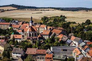 Vy över Mansfeld, där Luther gick i skola som barn.