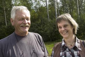 Ragnar Lundell och Anneli Hansson från ABF i Bollnäs är nöjda med projektet hittills.