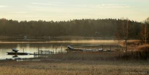Foto taget vid Björknäsviken 14 november 2013.