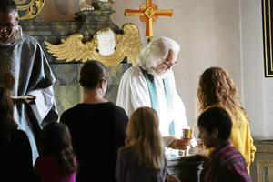 Emeritus, Ola Söderberg, var på plats vid gudstjänsten i Svärdsjö kyrka på söndagen.