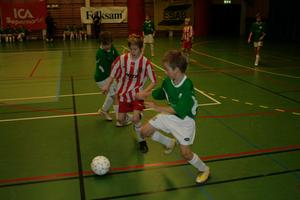 Grönklädda Finnerödja mötte Fjugestakillarna på onsdagsförmiddagen.
