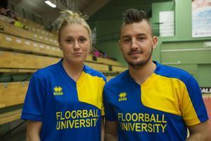 Ledarna Frida Eriksson och Billy Nilsson.