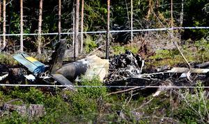 Ett flygplan kraschade under flyguppvisningen på Flygfesten i Söderhamn på lördagen.