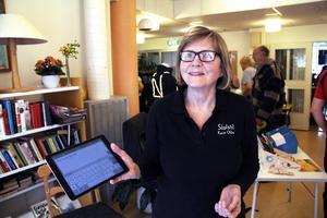 Karin Ohlis visade upp sin språkinlärnings-app Skolstil.