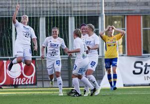 Emma Svärd imponerade stort i första kvalmatchen mot Umeå Södra FF.