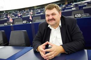 Peter Lundgren (SD) i EU-parlamentet i Strasbourg