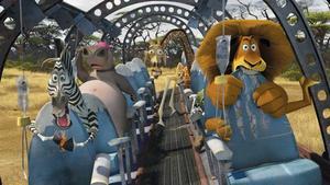 Zebran Marty, flodhästen Gloria, giraffen Melman och lejonet Alex i
