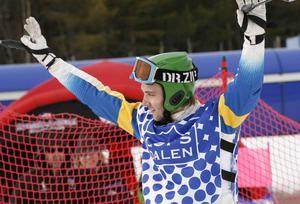 Victor Sticko, IFK Mora, vann i herrklassen vid SM i Skicross som kördes i Lofsdalen
