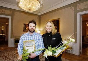 Årets stipendiater är Susanne Pripp från Gamla teatern och Kenneth Söderström från Qvarnsjö skogstjänster AB.
