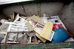 Byggmaterial och rivningsavfall var en av kategorierna som ökade förra året. Kanske på grund av ROT-avdraget.