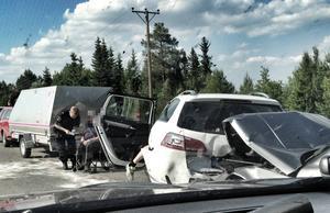 Fyra bilar var inblandade i olyckan.