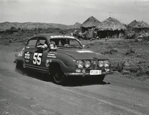 Saab användes som rallybil på 60-talet.