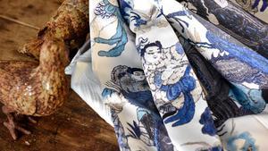 Mönster i blått populärt gardinval när svensken väljer.