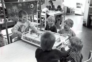 Matchdags på Hammarby dagis 22 mars 1985.