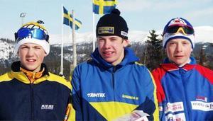 Topptrion Mikael Ojala, Ånge, Emil Jönsson, Årsunda och Lars Nelson, Funäsdalen, radar upp sig efter USM 2000.