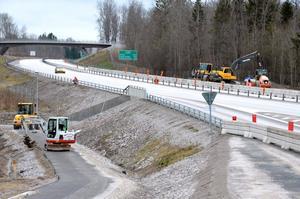 Motorvägshållplats vid Lanna. Ska underlätta busspendlingen till och från Karlskoga.