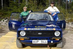 Tomas Petterson med hustrun Pernilla Kronberg tog hem såväl tävlingen som totalcupen när Bergslagen Rally Cup avgjordes vid Kniptjärn.