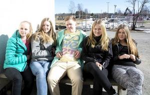 Klara Schubert, Andrea Månström, Filiph Ivarsson, Wilma Larsson och Rebecka Isberg går i nian och lämnar skolan innan hallen är klar, men alla kommer använda den på fritiden.