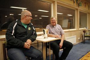 Sören Sandström är ordförande i Skutskär, Kent Hockman, som nu är sportchef, var det tidigare.