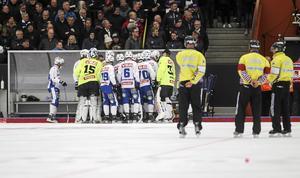 Vänersborg i Sparbanken Lidköping Arena under kvartsfinalspelet förra säsongen. I helgen är laget tillbaka i arenan för att spela Svenska cupen.