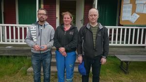 Skyttarna Örjan Bergström, Caroline Törnvall och Stefan Burchardt.
