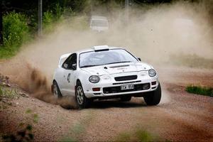Totalsegraren Niklas Hägg, SMK Hälsinge vann 4WD i sin Toyota Celica var snabbast av alla uppför Hammarbacken.