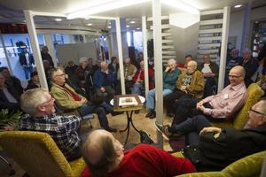 Många slöt upp för att prata sporthistoria med Sven-Erik Jönsson, Lasse Sundberg, Pär Jonsson.