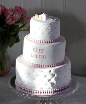 Tårtan räckte till 50 personer.