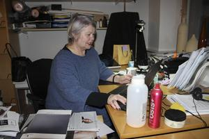 Eva Marja Andersson på sitt kontor på Polhemsskolan i Gävle.