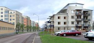 Så här kommer det att se ut efter Norra Järnvägsgatan om ByggPartners planer på att bygga 110 nya lägenheter blir verklighet. Lägenheterna kommer att bli bostadsrätter och byggstarten är planerad till första kvartalet nästa år.