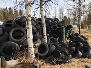 38 ton uttjänta däck återvanns från Gagnef i fjol.