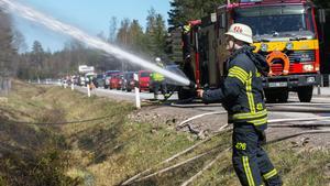 Branden vid riksvägen.