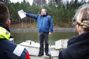 Peter Jonsson, projektledare för Mälarprojektet, stod på den aktuella stenpiren för något år sedan när han berättade om förändringarna med Södertälje kanal och sluss.
