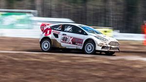 Bäst. Ingen kunde hota Kevin Eriksson under årets första deltävling i RallyX Nordic.