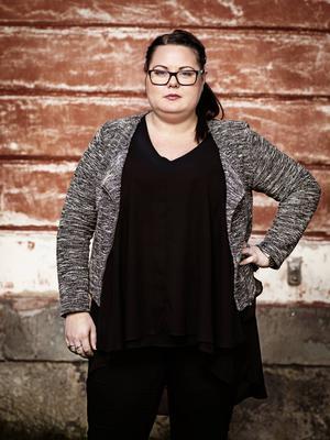 En 126,9 kilo tung Helena Edström inför starten av Biggest loser.