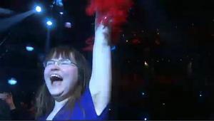 Lina Ehrin jublar efter Loreens vinst. Aldrig kunde hon ana vilka konsekvenser det skulle få.