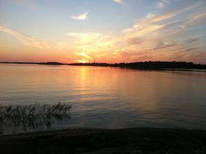 Solnedgång, Björnön