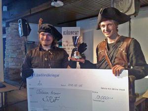 Patrik Thodén och Zakarias Nordfält-Laws vann Idéracet med sin idé om ett lajv och en marknad på Norderön.