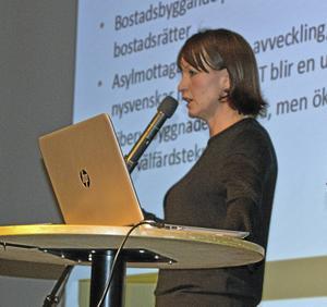 Kommunstyrelsens ordförande Ulrika Liljeberg informerade om utbyggnaden av bostäder och utvecklingen av vård och omsorg för äldre.
