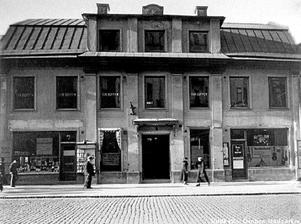 Fredshuset. Så här såg det ut –huset på Storgatan7 i Örebro där två historiska fredsavtal undertecknades den 18juli 1812. Huset finns inte kvar, utan är numera rivet.¿ARKIVBILD: STADSARKIVET I ÖREBRO