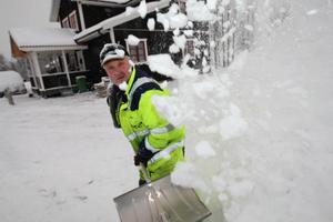 """Snöyra väntas i Lillhärdal i slutet av februari. """"Nu är det perfekta förhållanden. Får vi 500 besökare så är vi nöjda"""", säger Ove Busk.Foto: Håkan Degselius"""