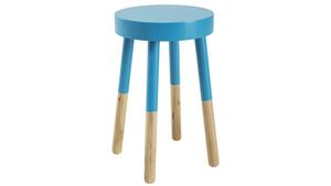 Möbler som är färgdoppade ser ut att sväva ovanför golvet, vilket kan vara en användbar effekt i små utrymmen. Pallen kommer från Åhléns och kostar 299 kronor.