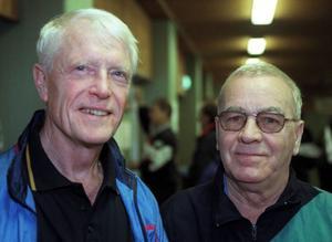 Bosse Wallgren och Åke Holmgren på en några år gammal bild.