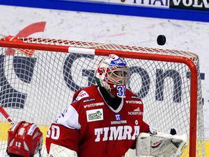 Italien-kanadensaren Daniel Belissimo i Timrå IK-målet 2013.
