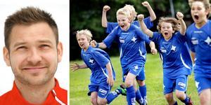 John Alvbåge har koll på fotbollstermerna. Bilden till höger är tagen från årets upplaga av Örebrocupen.
