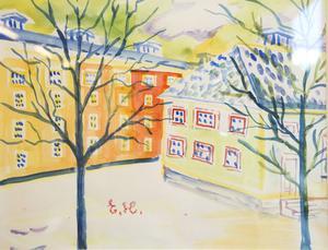 Målning av Ester Henning.